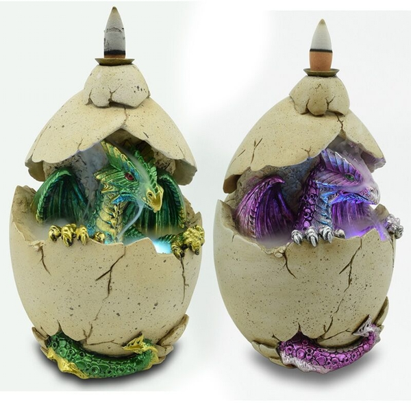 Dragon Egg LED Backflow Incense Burner (1 Random Supplied)