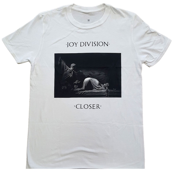 Joy Division - Classic Closer Unisex Small T-Shirt - White