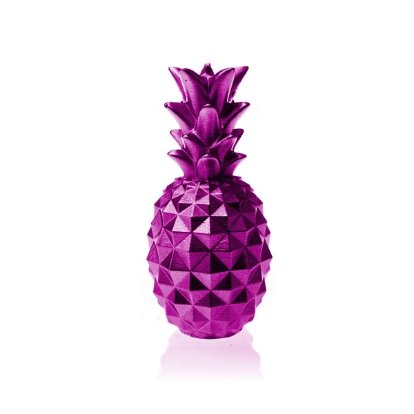 Pink Metallic Medium Pineapple Candle