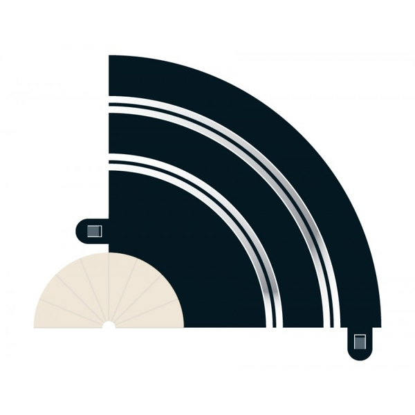 Radius 1 Hairpin Curve 90° (Set Of 2) Scalextric Accessory Pack
