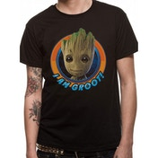 Guardians Of The Galaxy 2 - Groot Circle Large T-Shirt - Black