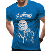 The Avengers Infinity War - Blue Thanos Men's XX-Large T-Shirt - Blue