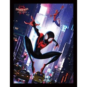 Spider-Man Into The Spider-Verse - Swing Framed 30 x 40cm Print