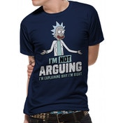 Rick And Morty - Arguing Unisex Large T-shirt - Blue
