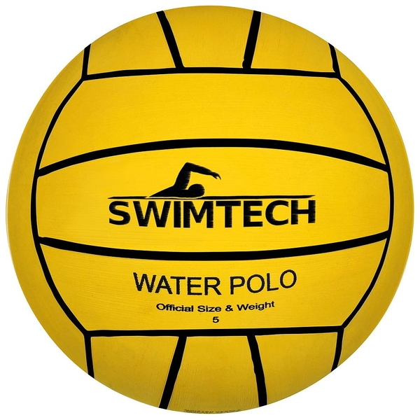 SwimTech Water Polo Yellow Ball Size 4