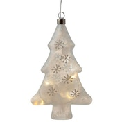 Frosted Christmas Tree Decorative Hanging LED