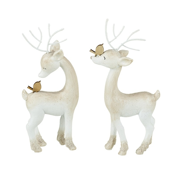Resin Reindeer Decoration by Heaven Sends (Set of 2)