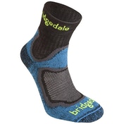 Bridgedale Men's Cool Fusion Run Speed Trail Socks, Blue Large UK Size 9-11.5