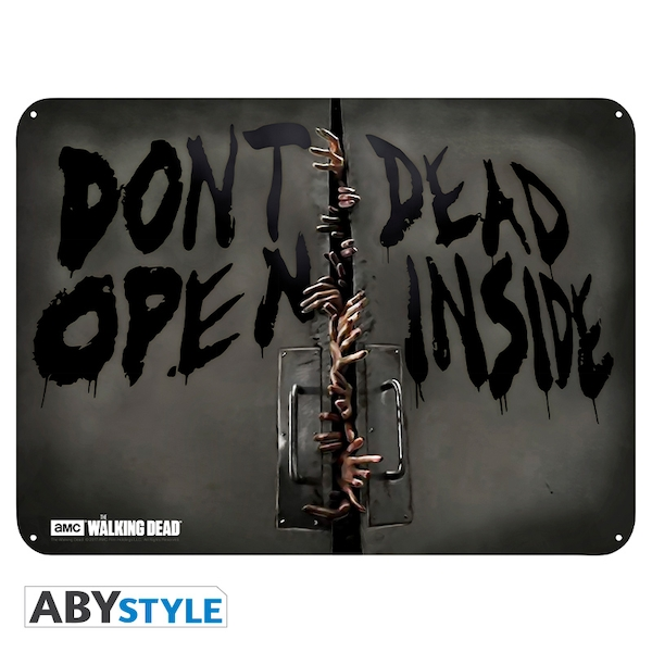 The Walking Dead - Zombies (28 x 38cm) Metal Plate