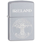 Zippo Celtic Tree of Life Satin Chrome Windproof Lighter