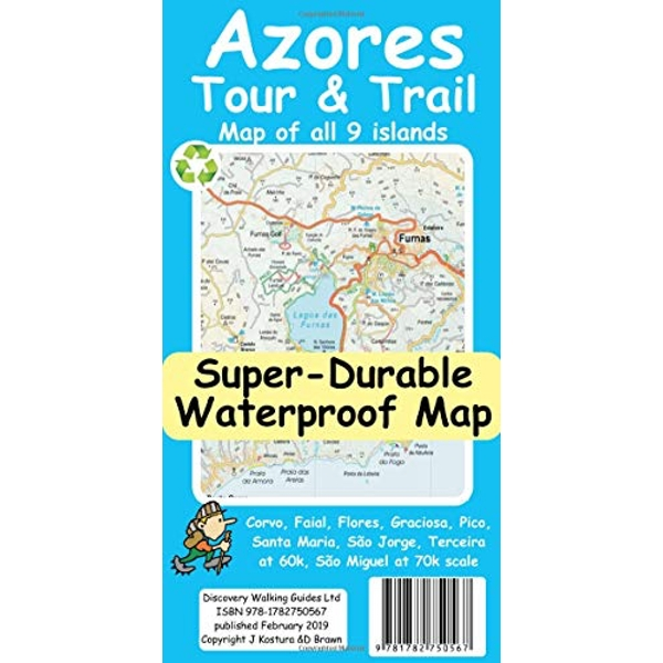 Azores Tour & Trail Super-Durable Map  Sheet map 2019