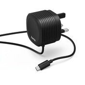 Hama Charger, micro USB, 2.4 A, with UK plug, black