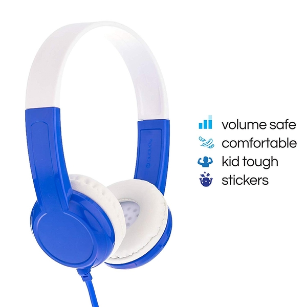 ONANOFF Buddyphones Discover Volume Limiting Kids Headphones Blue