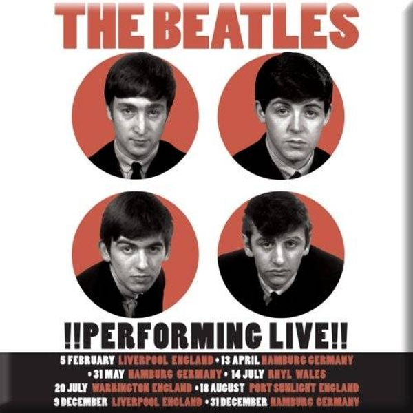 The Beatles - Performing Live Fridge Magnet