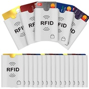 Savisto RFID Signal Blocking Card Sleeves - 20-Pack