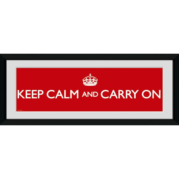 Keep Calm and Carry On Framed Photographic Print
