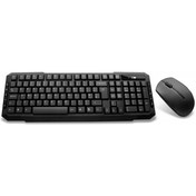 Builder Wireless Keyboard & Mouse Combo Set Black
