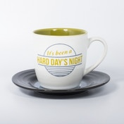 Thumbs Up! L&M Mug and Saucer Set Hard Day's Night