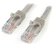 Cat5e patch cable with snagless RJ45 connectors   2m  gray