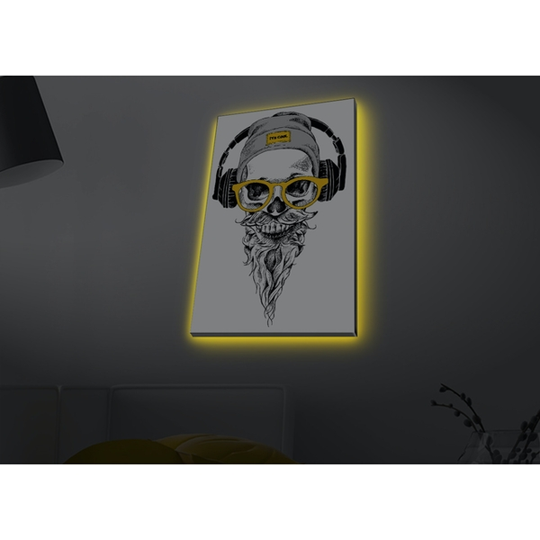 4570MDACT-073 Multicolor Decorative Led Lighted Canvas Painting