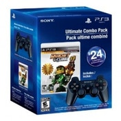 Ratchet & Clank Collection Game and Official Sony Black Wireless Dualshock Controller PS3 (#)
