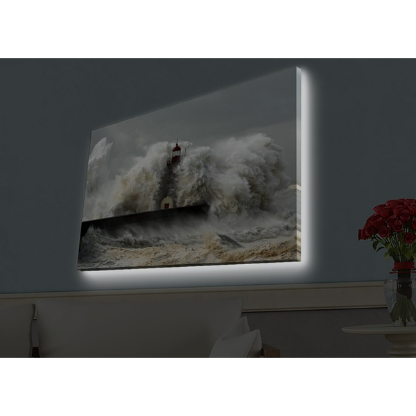 4570HDACT-051 Multicolor Decorative Led Lighted Canvas Painting