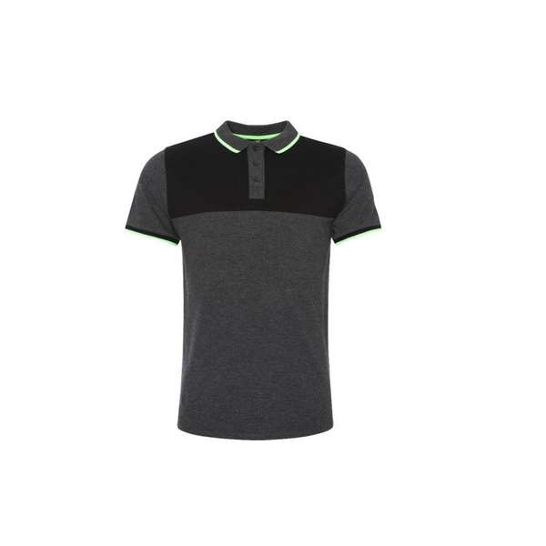 Liverpool FC Neon Panel Polo Mens Charcoal L