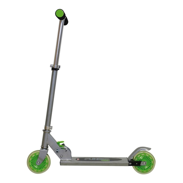Funbee - One Aluminium 2 Wheel Scooter with Adjustable Height (grey/green)