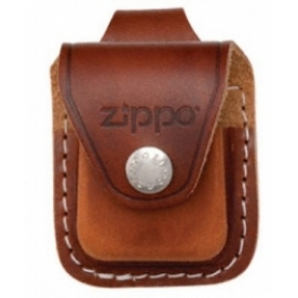 Zippo Brown Lighter Pouch With Loop Leather