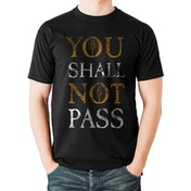 Lord Of The Rings - You Shall Not Pass Text Men's XX-Large T-shirt - Black