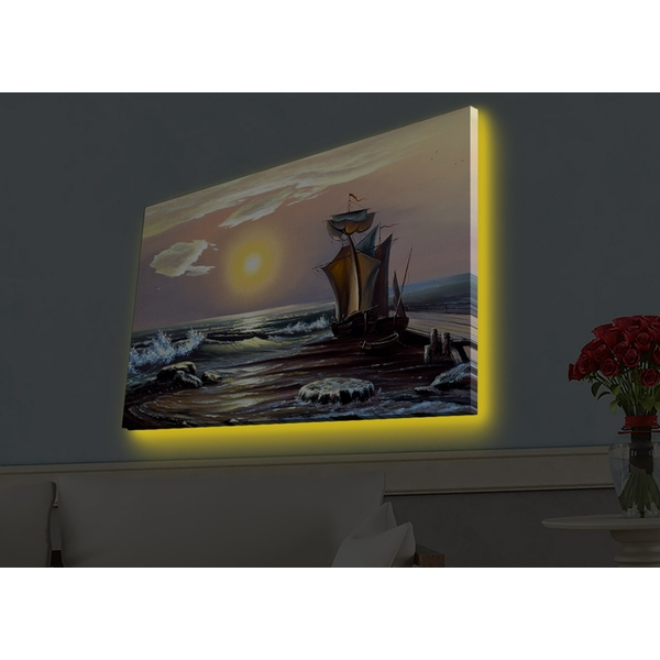4570HDACT-068 Multicolor Decorative Led Lighted Canvas Painting