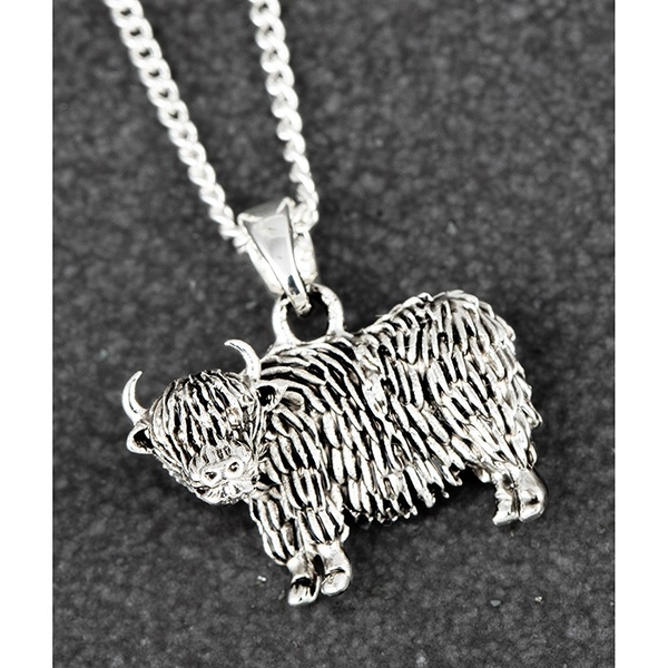 Highland Coo Silver Plated Necklace