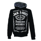 Jack Daniels Adult Male Old No.7 Brand Logo Large Hoodie