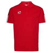 Sondico Venata Polo Shirt Youth 9-10 (MB) Red/White/Black
