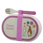 Beatrix Potter Flopsy Organic Bamboo Snack Box with Cutlery Set
