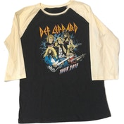 Def Leppard - 2018 Tour Photo Men's X-Large Raglan T-Shirt - Black
