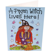 Pack of 6 A Pagan Witch Smiley Cards