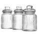 Set of 3 Vintage Airtight Glass Jars | M&W 990ml - Image 3
