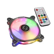 Lian Li BR RGB PWM 120mm Fan with Remote Fan Controller - Silver