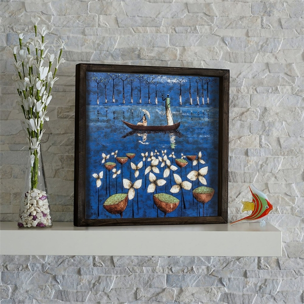 KZM589 Multicolor Decorative Framed MDF Painting