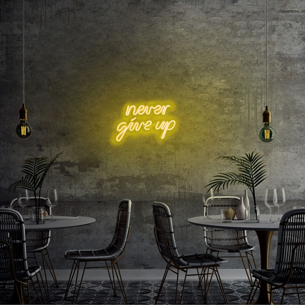 Never Give Up - Yellow Yellow Wall Lamp