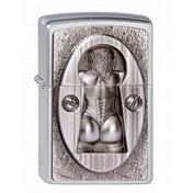 Zippo Unisex Adult Keyhole Emblem Windproof Pocket Lighter Chrome