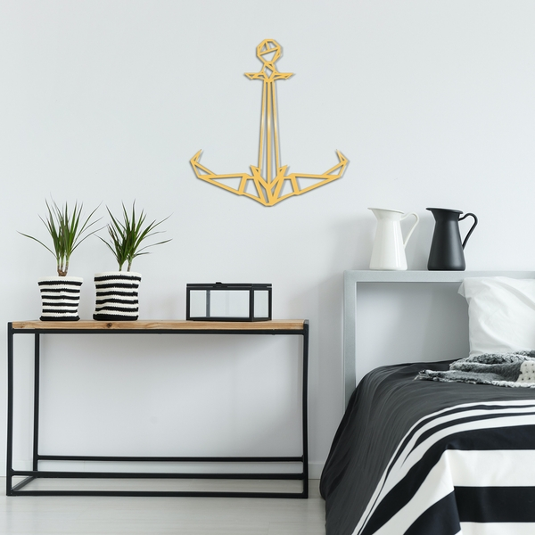 Anchor2 Metal Decor - Gold Gold Decorative Metal Wall Accessory