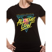 All Time Low - Future Hearts Women's Medium Fitted T-Shirt - Black