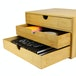 Bamboo Desktop 3 Drawer | M&W Wide Opening - Image 3