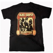 Alice Cooper Elected Band Mens Black T-Shirt: X Large