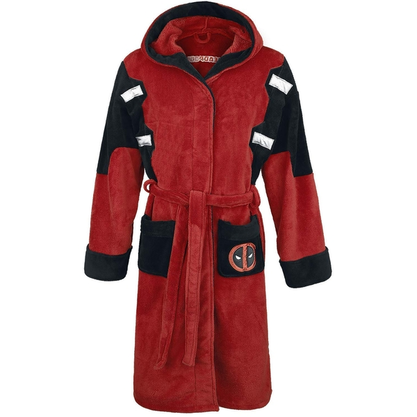 Deadpool Official Marvel Fleece Adult Dressing Gown Bathrobe - One Size - Image 1