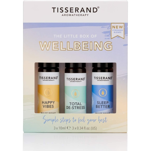 Tisserand Aromatherapy The Little Box of Wellbeing Roller Ball Kit (3x10ml)
