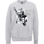 DC Comics Suicide Squad Bad Girl Men's X-Large Sweatshirt - Grey