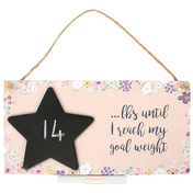 Goal Weight Countdown Plaque